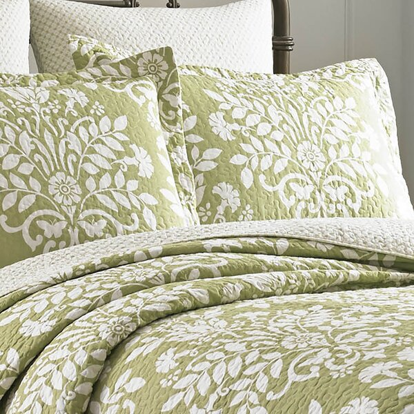 Rowland 100% Cotton Reversible Coverlet Set by Lau